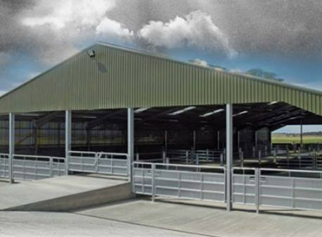 Trimform Farm building steel roof and wall sheets on agricultural building